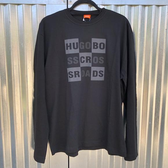 Size S L XL Hugo Boss Long Sleeve Slim-Fit T-shirt